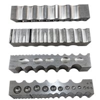 Wholesale x32x205mm Steel Channel with sided multipurpose steel dapping block Jewelry Making Tools