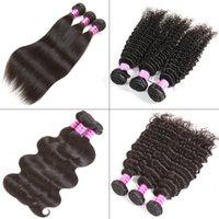 Wholesale Peruvian Straight Human Hair Bundles Unprocessed Brazilian Virgin Body Deep Water Wave Human Hair Weave Kinky Curly Human Hair Extensions