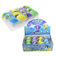 Wholesale best novelty toys online - Best Sellers Fun Shell Hatching Toys Expand In Water Marine Organism Novelty Toy Rainbow Shellfish Pectinid xk W