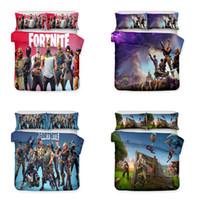 Wholesale 3d bedding set for sale - Hot Sale Art Design Printed Kids Bedding Set Fortnite Game Theme Bedding Sets Duvet Cover