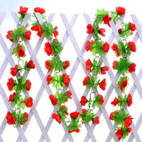 Wholesale 2018 Colors New Artificial flowers Small Roses Rattan Bars Wisteria Flower decoration Decorative Flower meters