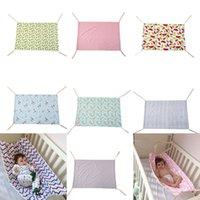 Wholesale boy girl bedding online - Baby Floral Unicorn Printed Hammock Newborn Portable Removable for Boys Girls Bed Infant Summer CM Cradles colors Bassinets C4070