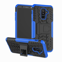 Wholesale hard plastic tire online - Dazzle Hybrid Cases For LG LG Q7 Galaxy A6 Plus J7 duo J3 J6 J4 J8 ShockProof Defender Rugged Hard PC Soft TPU Cover Tire Armor Coque