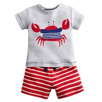 Wholesale costume for boys animals online - Kids Shorts Suits Casual Kids Clothes Tracksuit Summer Baby Boy Clothes Cartoon Patterns Costume for Boys Clothing Sets