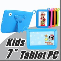 Wholesale 2018 Kids Brand Tablet PC quot Quad Core children tablet Android Allwinner A33 google player wifi big speaker protective cover M PB