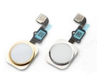 Wholesale NEW Replacement White Gold Home Button Flex With Seal Bracket For iPhone