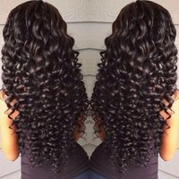 Wholesale chinese human hair wigs online - 360 Full Lace Front Human Hair Wigs For Black Women Pre Plucked Density Body Deep Wave Loose Kinky Curly Brazilian HCDIVA Wig