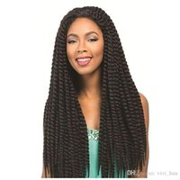 Wholesale braid black hair american online - American and European Fashion Explosions x3 Pack quot Crochet Braids for Black Women Woven Hair Synthetic Hair Black Brown JB2Bx3