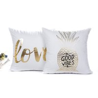 Wholesale light cushions for sale - New cm Styles Gold Patterns Cushion Covers Bedroom Seat Christmas Gifts Home Decor Kitchen Accessories Party Decoration