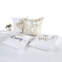Wholesale light cushions online - 45 cm Designs Tree of Life Cushion Covers Bedroom Seat Christmas Gifts Home Decor Kitchen Accessories Party Decoration
