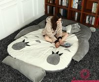 Wholesale totoro bed online - Japanese anime Totoro plush beanbag cartoon cat bed tatami mattress cute children sleeping bag for adults and kids gift