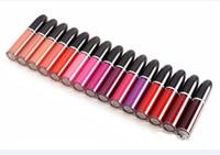 Wholesale long lasting color lips online - Brand M Matte Liquid Lipstick Beauty Lips Makeup Waterproof Retro Matte Lip Gloss Long Lasting Lipgloss Cosmetics Colors