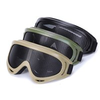 Wholesale metal mesh protection online - Outdoor Sports Equipment Hunting Shooting Protection Gear shooting Tactical Shooting X400 Metal Steel Wire Mesh Goggles Goggles NO02