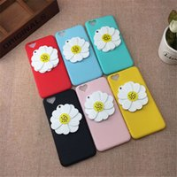 Wholesale iphone6 cases for sale - TPen case flower mirroe protection cover dermis silicone case for iphone6 plus lovely phone case for girl