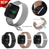 Wholesale Milanese Loop Strap Wrist Band Replacement For Fitbit Versa Stainless Steel Watch Band Magnetic Lock Bracelet