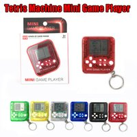 Wholesale Mini Game Player Keychain Portable Gaming Console Plastic Classic Toy Game Gift Box Electric Machine Toy Education Toy