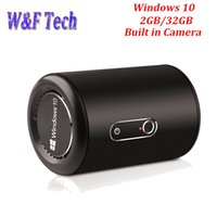 Wholesale windows camera online - Latest G2 Windows Mini PC Intel Bay Trail Quad Core Chipset GB GB WiFi G GHz Bluetooth4 Smart TV Box with Camera MP