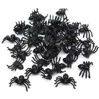 Wholesale funny prank toys for sale - Useful cm Plastic Black Spider Halloween Decoration Festival Supplies Funny Prank Toys Decoration Realistic Prop