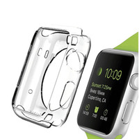 Wholesale apple watch case online - For Apple Watch Case Ultra Thin Slim Crystal Clear Transparent TPU Cover Skin For Apple Watch1 mm mm iwatch