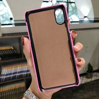 Wholesale galaxy light phone cases online - Luxury Fashion Show Leather Case For iPhone XS MAX XR X S Plus Case Vogue Brand Back Phone Cover For Galaxy S9 S8 S7 Edge Note