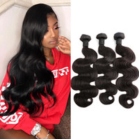 Wholesale human hair extensions braids for sale - 3pcs Brazilian Hair Bundles Human Hair Extensions Body Wave Wavy Dyeable Bleachable A Donor Braid Hair Weaves Julienchina Bellahair