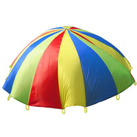 Wholesale educational toys for kids online - Kindergarten Game Parachute Metres Rainbow Ballute For Kid Outdoor Sport Educational Toy High Quality rw C
