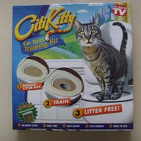Wholesale Citi kitty Pet Toilet Trainer Puppy Cat Toilet Litter Trainer Cat Training kit Drop shipping Retail box
