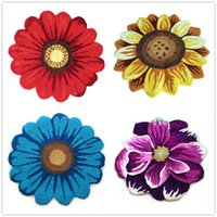 Wholesale 3D Flower Small Carpet Non slip Area Rug Home Living Room Bedroom Floor Mat