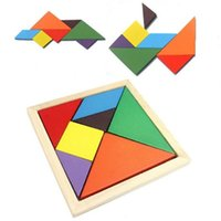 Wholesale kids building toys online - Child Learning Education Tangram Toys Puzzle Geometry Collage Board Recognition Building Blocks Kids Intelligence Toy Gift ym WW