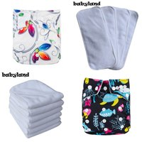 Wholesale cloth diaper print insert for sale - 2019 New Year Lastest Prints Baby Cloth Diaper shells with Microfiber Inserts Eco friendly Happy Choice Pocket Diaper Covers
