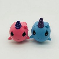 Wholesale whales toys online - Squishy Toys for Kids slow rising squishy Finger Doll Jumbo Squishy Unicorn Whales Toy Stretchy Animal Healing Stress Paste good