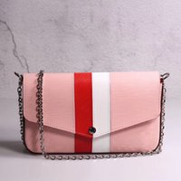 Wholesale 2018 brand classic luxury Three in one women shoulder bags wallet casual genuine leather womens bag design top quality