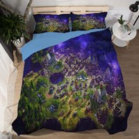 Wholesale comforters covers online - 3D Comforter Bedding Sets Fortnite Duvet Covers Home Textiles Polyester Printing Cartoon Fortnite Pattern Twin Full Queen King Size