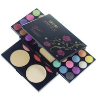 Wholesale lip blush for sale - ADS Makeup Kit Eye Shadow Palette Blush Lip Gloss Face Powder in with Brushes Cosmetics Set
