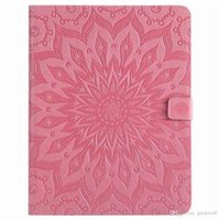 Wholesale ipad sleep wake mini online - Mandala Flower Sleep Wake UP Flip Wallet Stand PU Leather case for ipad Mini New ipad Air Samsung Tablet