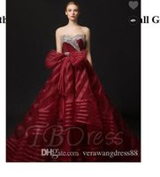 Wholesale maternity court wedding dress for sale - Stripes Sweetheart Beading Crystal Court Ball Gown Wedding Dress