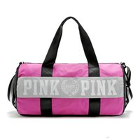 Wholesale sport bag for sale - Women Handbags Pink Letter Large Capacity Travel Duffle Striped Waterproof Beach Bag Shoulder Bag Ooa781