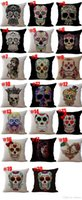 Wholesale skull bedding sets for sale - Halloween Skeleton Sugar skull Pillow Cases Cotton Linen cushion Cover Throw Pillow case Pillow cover Square Bedding sets Pillowslip
