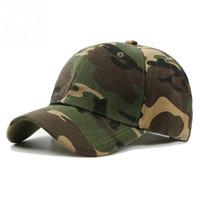 Wholesale desert camo cap online - 2018 Men Women Army Camouflage Camo Cap Casquette Hat Climbing Baseball Cap Hunting Fishing Desert Hat