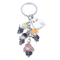 Wholesale Harry Potter Key Chain Cell Phone Pendant Backpack Charms Key Ring Collection Keychians people roles