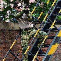 Wholesale combat uniform tactical online - Tactical Suit Uniform Hunting Clothes for Men Combat Camouflage Suit Paintball Tactical Sets Elbow Knee Pads