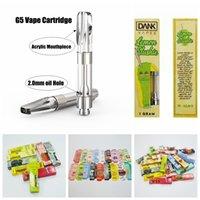 Wholesale Dank Vapes G5 Vape Cartridge Packaging Ceramic Cartridges Vaporizer Pen Oil Cartridges ml Glass Tank Wax Thick Oil Atomizer Ecig