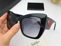 Wholesale cat black elegant online - Luxury Charming Cat eye Sunglasses For women Simple Love Heart Logo elegant Designer Glasses Sunshades Female Eyewear with Package