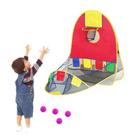 Wholesale car gates online - Child Play Games Foldable Tent Toddler Soccer Basketball Gate Door Game Indoor Outdoor Playing Tent with Basketball Hoop