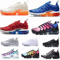 Wholesale 2018 TN Plus Game Royal orange USA Tangerine mint Grape Volt Hyper Violet trainers Sports Sneaker Mens women Designer running shoes