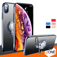 Wholesale For Iphone X Case Magnetic Ring Holder Crystal Gel Cases Ultra Thin Transparent Soft TPU Cover For XR XS MAX plus case