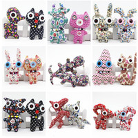 Wholesale cute small toy for sale - Fashion concise cute cloth toys buttons dolls small pendants Animal dolls children s toys and gifts T5I6031