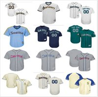 Wholesale 2019 custom Men s Women Youth Majestic Seattle Mariners Jersey Any Your name and number Home Blue Grey White Kids Baseball Jerseys