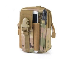 Wholesale military bags online - Unisex Tactical Molle Camouflage Pouch Belt Waist Pack Bag Military Waist Fanny Pack Phone Pocket Outdoor Sport Purse Wallet Styles G586F