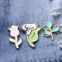 Wholesale east african wedding dresses online - pins brooches creative Calla Lily twig alloy Brooch dress package accessoriesenamel Pin Brooch Musical Instrument player gif broches